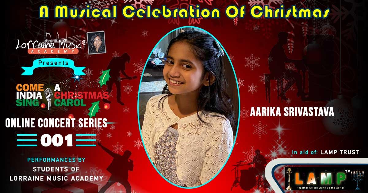 Aarika Srivastava singing student